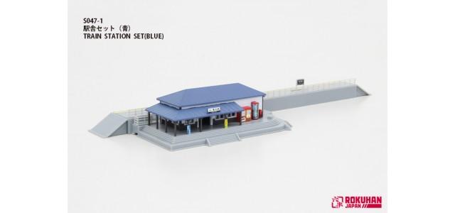 Rokuhan S047-1 Train Station Set   Blue