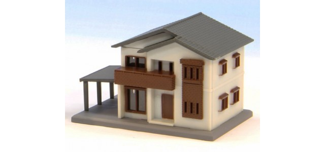 Rokuhan S042-2 Two Story House A | White