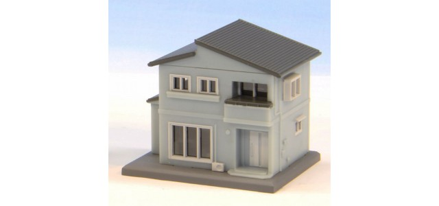 Rokuhan S043-2 Two Story House B | Blue