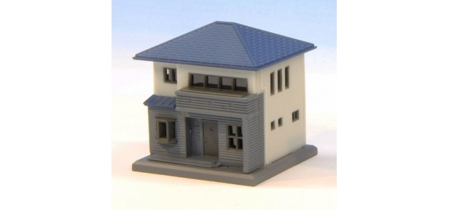 Rokuhan S044-1 Two Story House C | White