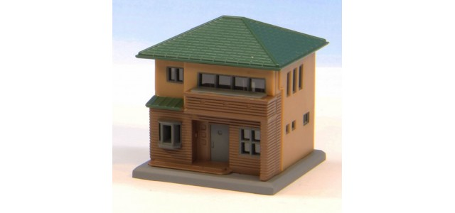 Rokuhan S044-2 Two Story House C | Brown