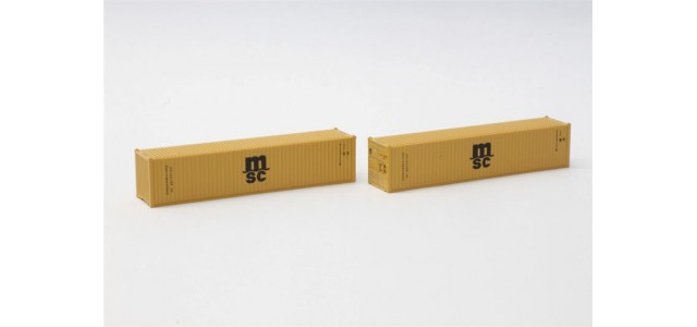Rokuhan A101-2 MSC Mediterranean Shipping 40' Container | 2-Pack