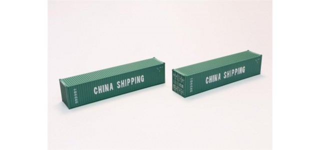 Rokuhan A101-8 China Shipping 40' Container | 2-Pack
