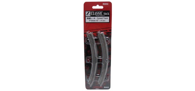Rokuhan R002 Curved Track R195mm 45 Degree