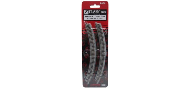Rokuhan R004 Curved Track R220mm 45 Degree