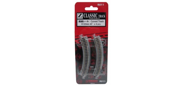 Rokuhan R011 Curved Track R120mm 45 Degree