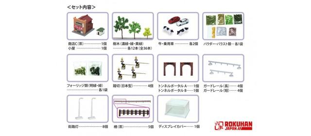 Rokuhan SS002-2  Z Shorty Mini-Layout Tunnel Scenery Set