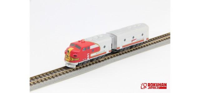 PRE-ORDER - Rokuhan ST012-1 ATSF EMD F7 A B 2-Car Set | Z Shorty