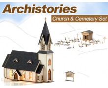 Archistories Country Church & Cemetery Set
