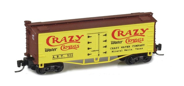 Father Nature FN-5011 Crazy Crystal 33' Wood Side Reefer ART #522 MTL Arch Bar Trucks Couplers