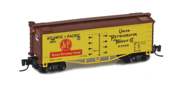 Father Nature FN-5015 A&P 33' Wood Side Reefer URT #23099 MTL Arch Bar Trucks Couplers