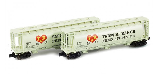 Full Throttle FT-1040 SHPX F&R Feed Supply 51' Covered Cylindrical Hoppers | 2-Car Set