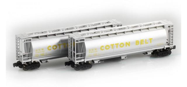 Full Throttle FT-1045 SSW Cotton Belt 51' Cylindrical Hoppers | 2-Car Set