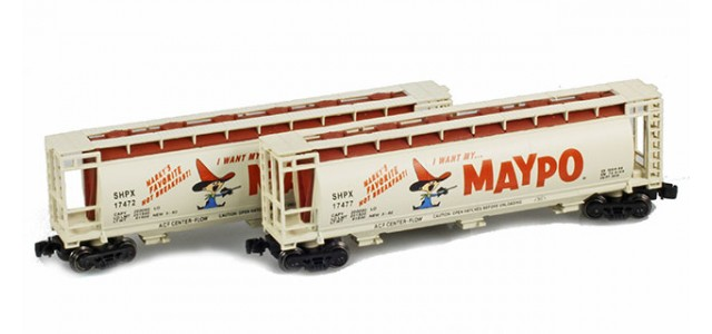 Full Throttle FT-1049-1 SHPX Maypo 51' Covered Cylindrical Hoppers | 2-Car Set