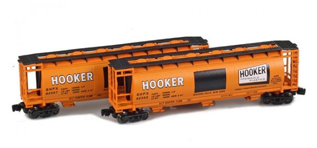 Full Throttle FT-1061 SHPX - Hooker 51' Covered Cylindrical Hoppers | 2-Car Set