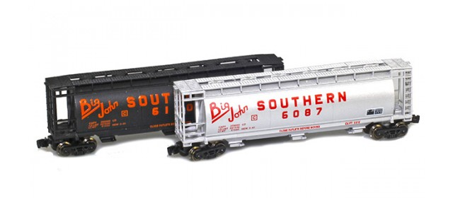 Full Throttle FT-1065-2 Southern 51' Covered Cylindrical Hoppers   2-Car Set