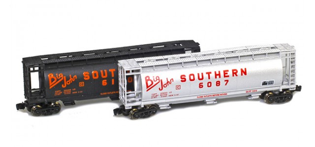 Full Throttle FT-1065-1 Southern 51' Covered Cylindrical Hoppers   2-Car Set