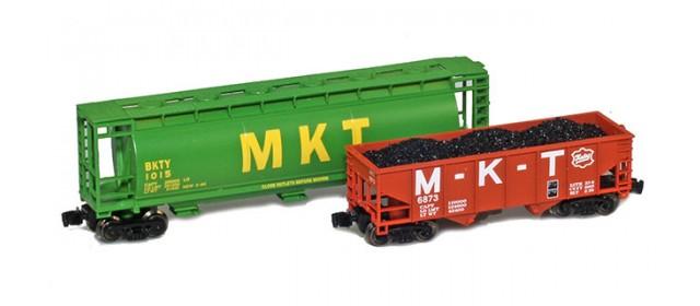 Full Throttle FT-COL55 MKT 51' Cylindrical  And Hopper Freight Set | 2-Car Set