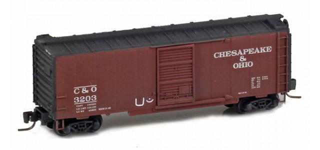 Micro-Trains 50044760 C&O 40' Single Door Boxcar Weathered Hobo Tagging #3203