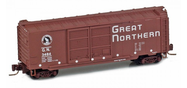 Micro-Trains 50100250 GN 40' Standard Boxcar Double Doors #3484