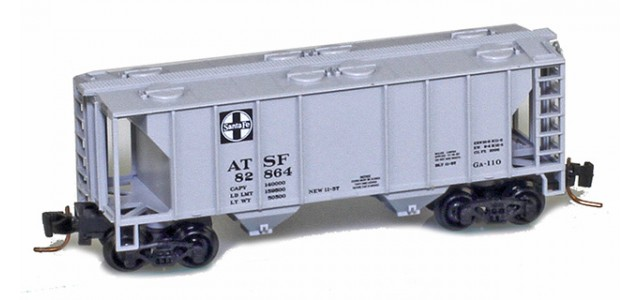 Micro-Trains 53100073 ATSF PS-2 2-Bay Covered Hopper #82567