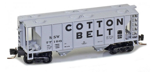 Micro-Trains 53100292 SSW Cotton Belt PS-2 2-Bay Covered Hopper #77199