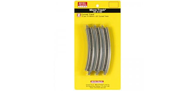 Micro-Trains 99040903 R195mm 30° Curve 12 Pieces