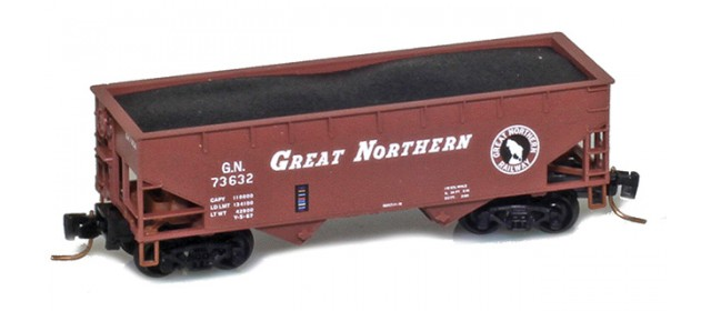 Micro-Trains 53300162 Great Northern 33' Twin Bay Offset Side Hopper #73678