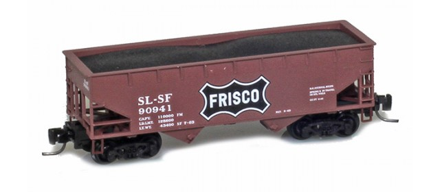 Micro-Trains 53300172 Frisco 33' Twin Bay Offset Side Hopper #90950
