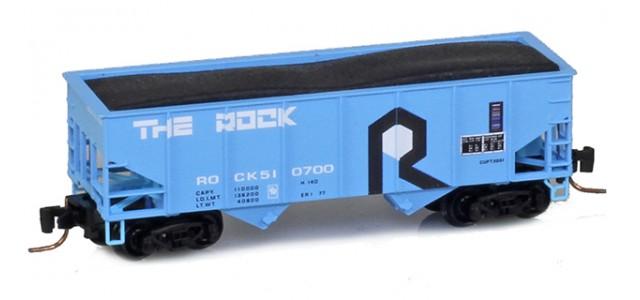 Micro-Trains 53400091 Rock Island 33' Twin Bay Offset Side Hopper #510700