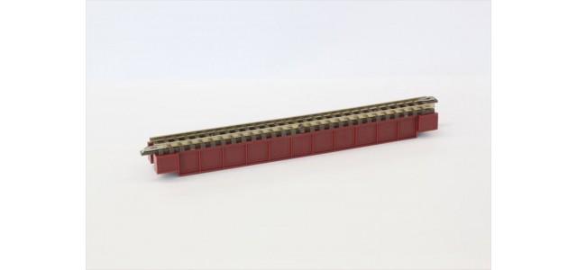 Rokuhan R070 Deck Girder Bridge | Dark Red