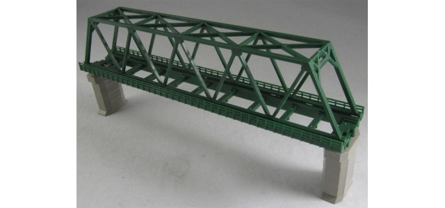 Rokuhan R041 Single Track Iron Bridge | Green