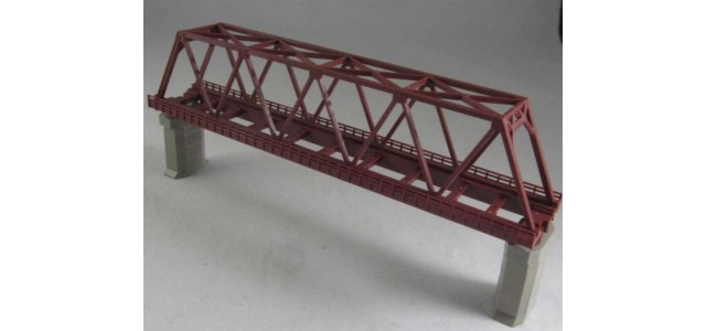 Rokuhan R042 Single Track Iron Bridge | Red