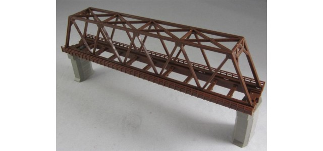 Rokuhan R061 Single Track Iron Bridge | Brown