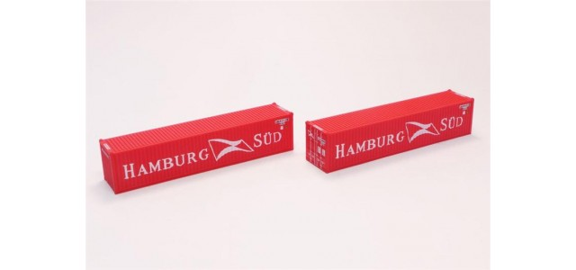Rokuhan A101-10 Hamburg Sud 40' Container | 2-Pack