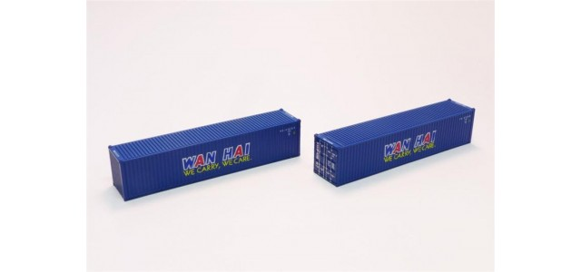 Rokuhan A101-9 Wan Hai 40' Container | 2-Pack