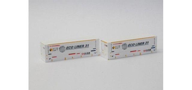 Rokuhan A102-1 Nippon Express Ecoliner 31' Container | 2-Pack