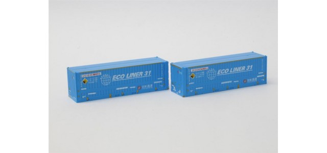 Rokuhan A102-2 Nippon Express Ecoliner 31' Container | 2-Pack