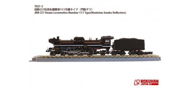Rokuhan T027-2 JNR C57 Steam Locomotive 111 | Montetsu Smoke Deflectors