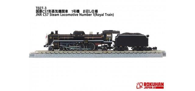 Rokuhan T027-3 JNR C57 Steam Locomotive 1 | Royal Train