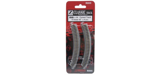 Rokuhan R005 Curved Track R145mm 45 Degree
