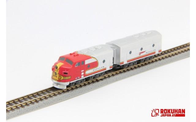 PRE-ORDER - Rokuhan ST012-1 ATSF EMD F7 A B 2-Car Set   Z Shorty